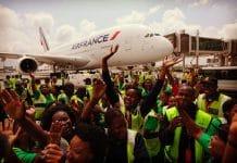 Arrivée de l'A380 d'Air France à Johannesbourg