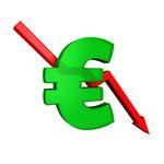 Euro en baisse