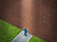 Aller droit dans le mur