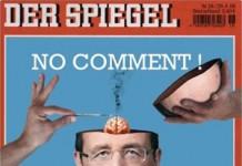 La fausse une du journal Der Spiegel représentant François Hollande avec un petit cerveau