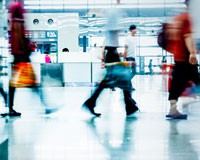 Zone de transit dans un aéroport