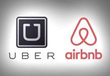 Logos de Uber et Airbnb