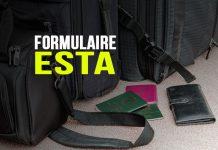Formulaire ESTA