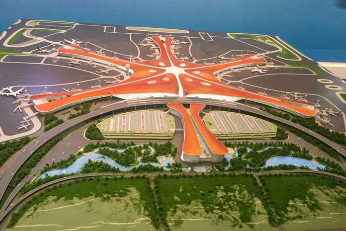 Aéroport de Pékin en Chine, le plus grand aéroport du monde