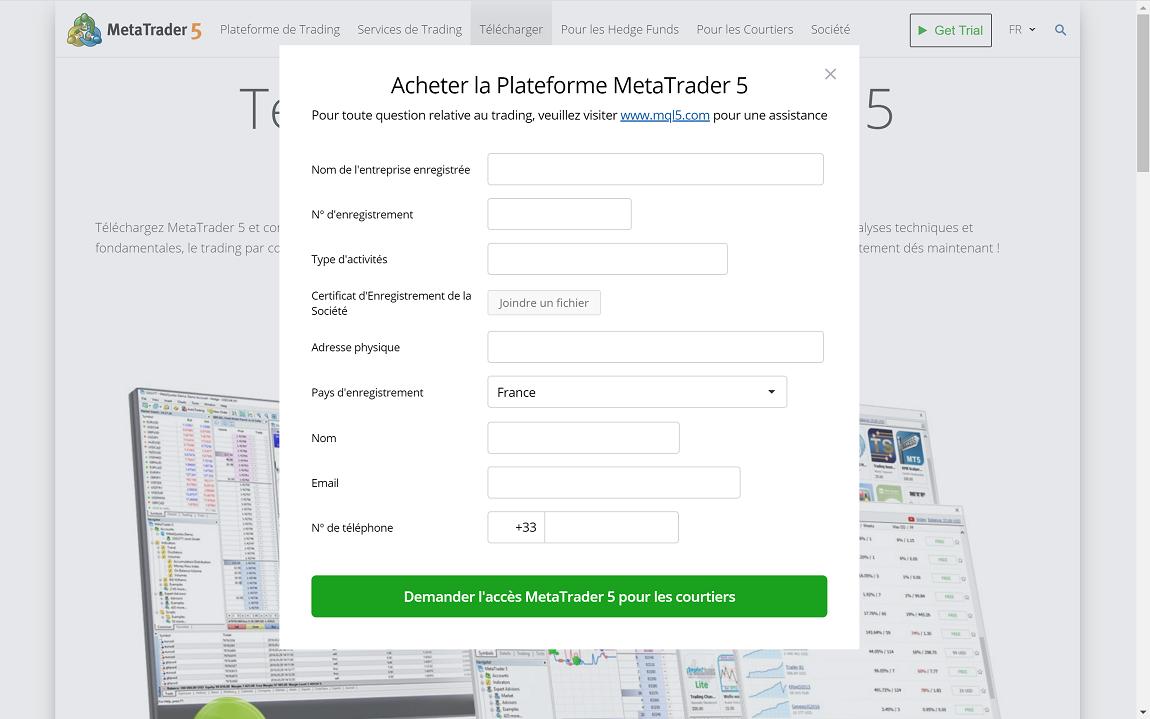 MetaTrader 5 compte ouvrir