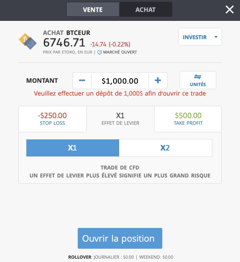 bitcoin paypal sur eToro