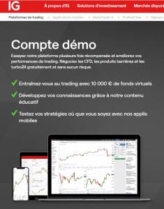 IG demo trading