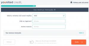 Remplir ses données personnelles pour simulation du prêt