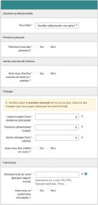 Étape 2 : Remplir ses données personnelles pour simulation du prêt immobilier