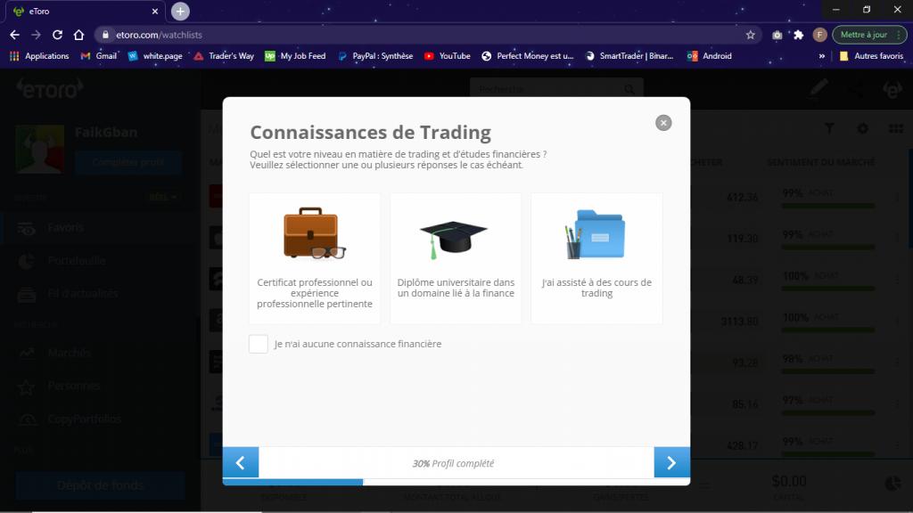 connaissance trading