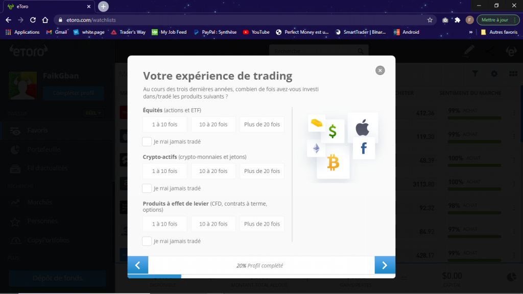 experience trading