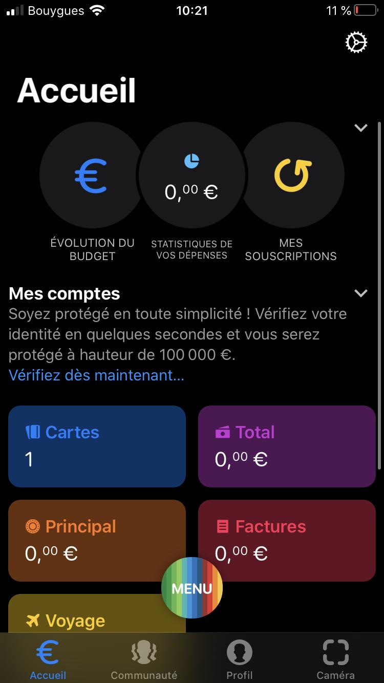 Etape 1 : Se connecter à l'application Bunq