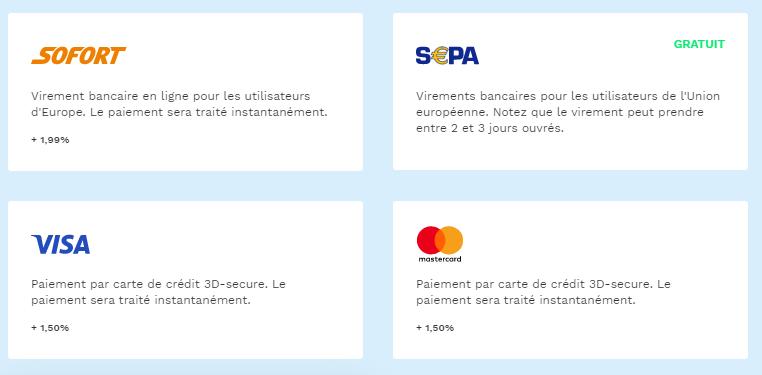 Moyen de paiement BitPanda plateforme d'échange
