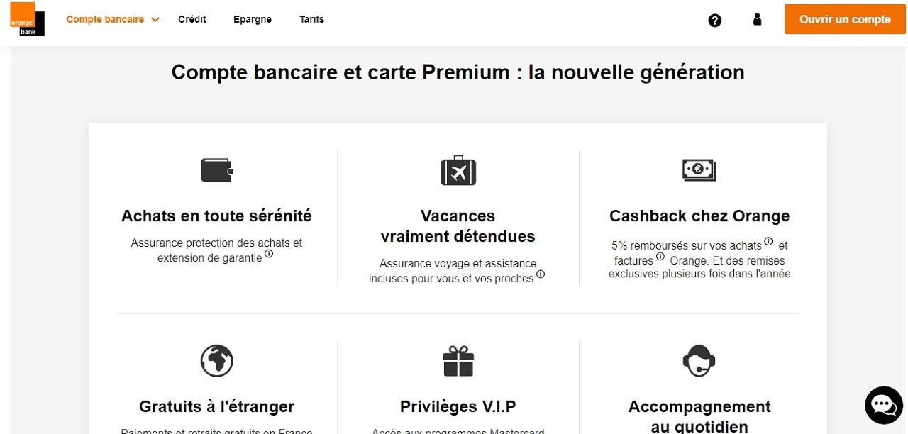 Compte bancaire avec carte premium