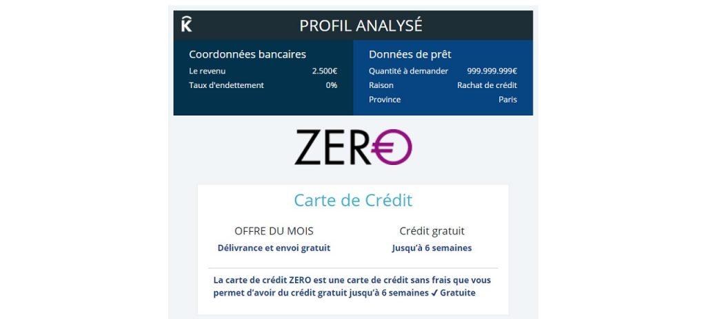 Profil analysé rachat crédit consommation