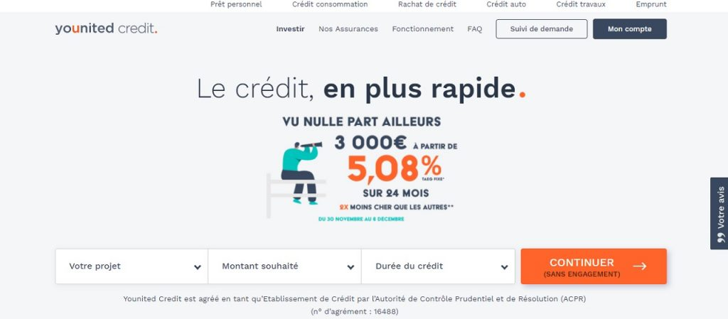 Younited Credit rachat crédit consommation