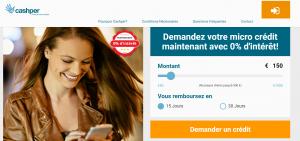 cashper 1000 euros crédit
