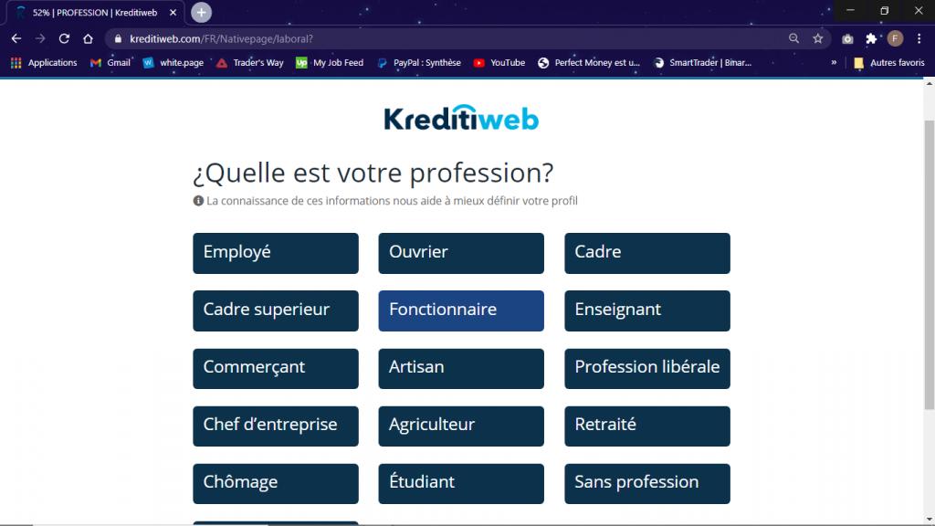 profession crédit 1000 euros