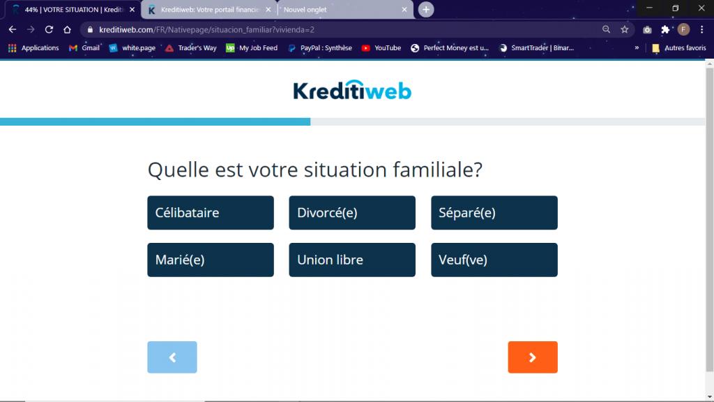 situation familiale crédit 1000 euros