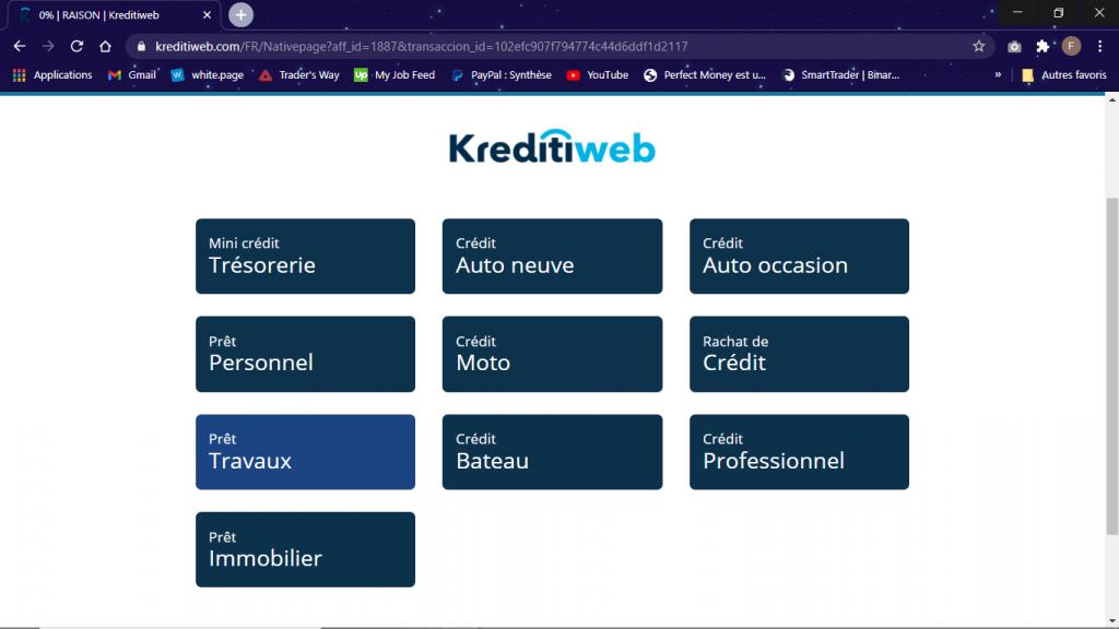 visiter Kreditiweb