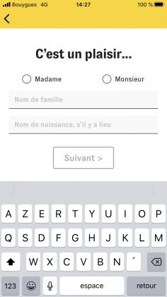 Etape 2 : Télécharger l'application Cashbee et renseigner ses données personnelles