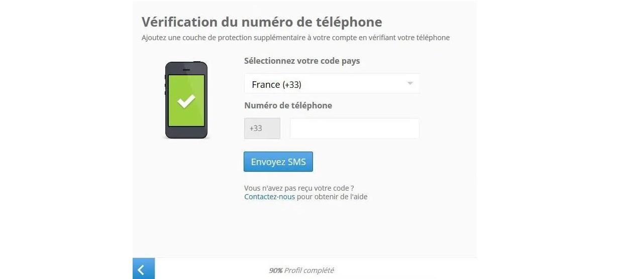 Vérification numéro de téléphone