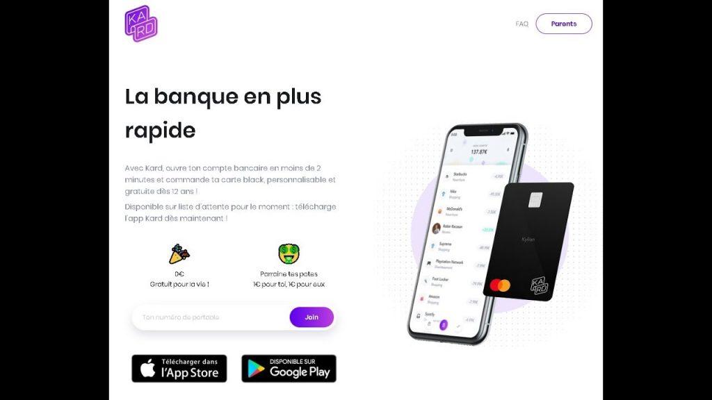 Étape1: Téléchargez l'application Kard – votre banque en ligne
