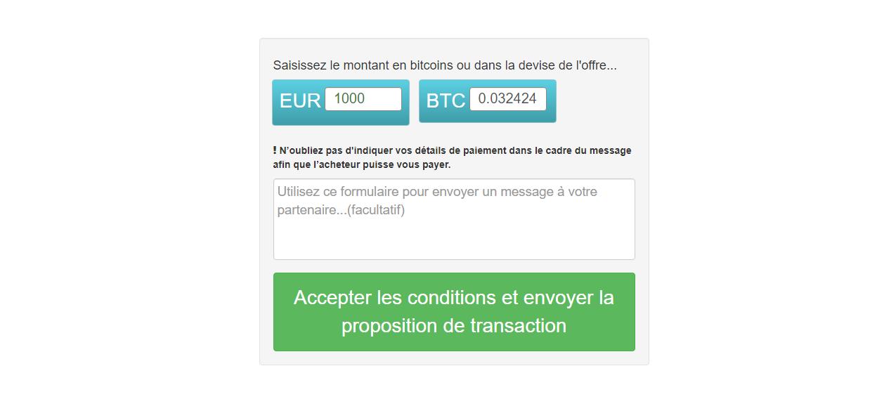 Proposer une transaction