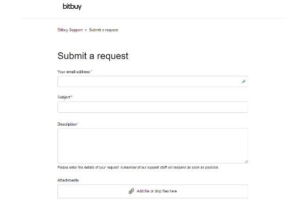 Support client de Bitbuy avis