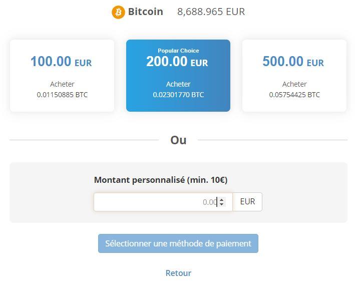 Achat des cryptomonnaies par carte bancaire