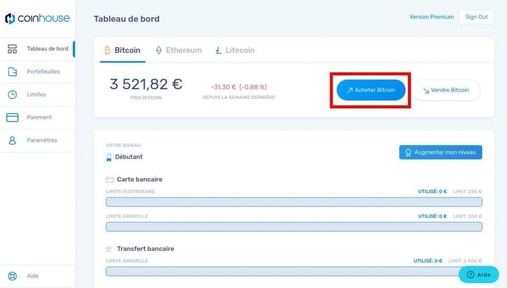 Étape4: Achat proprement dit de Bitcoin