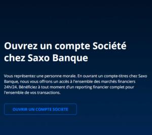 Compte société chez Saxo Banque