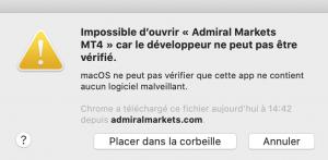 Etape 5 : Se connecter à son compte MT4 mac