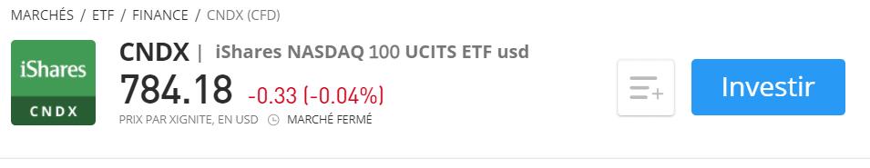 Investir dans CNDX ETF Nasdaq