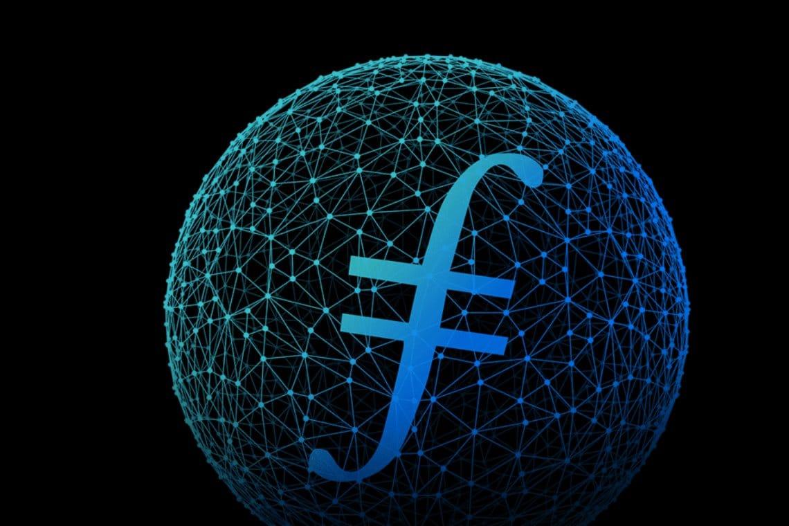 Cercle qui entoure le filecoin nouvelle crypto monnaie
