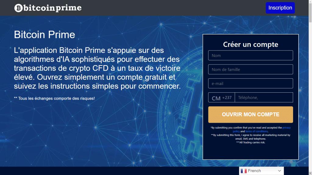 créer un compte Bitcoin Prime