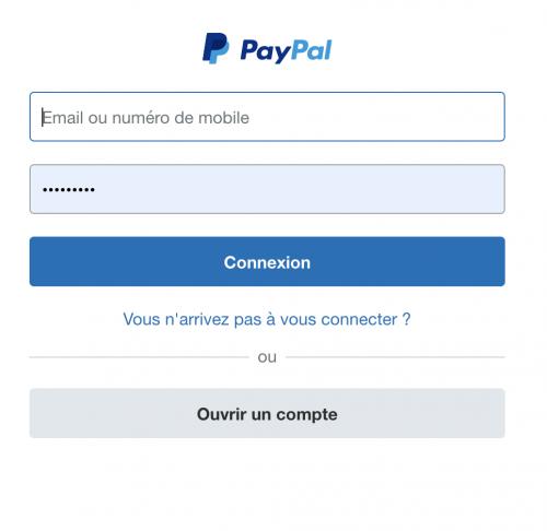 Étape 3: Se Connecter sur votre Compte Paypal
