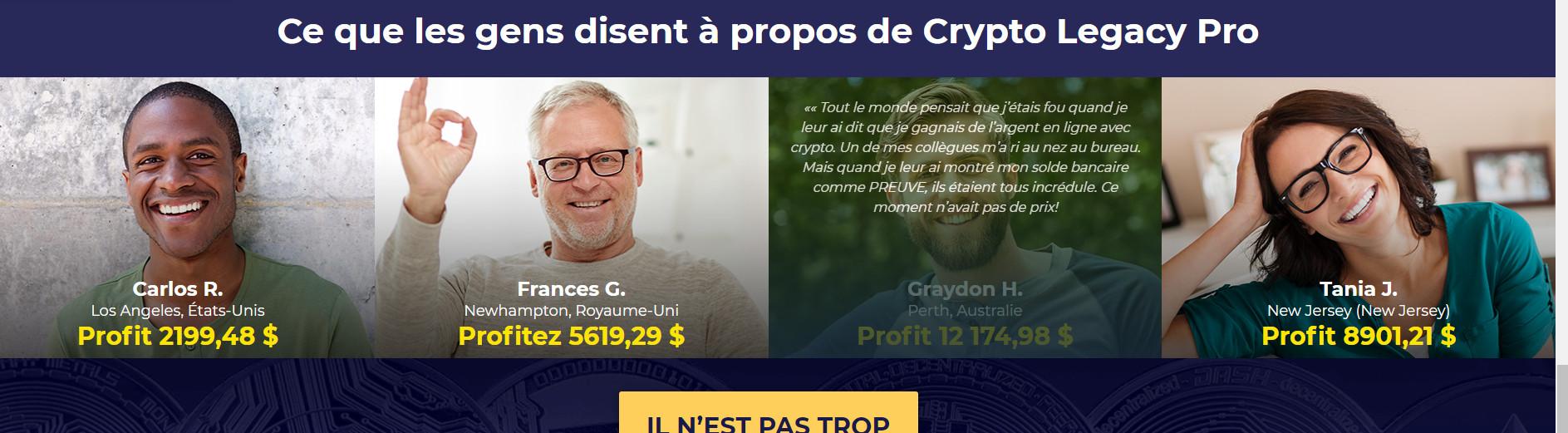 avis clients Crypto Legacy Pro