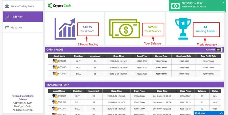 Auto-Trading avec Crypto Cash