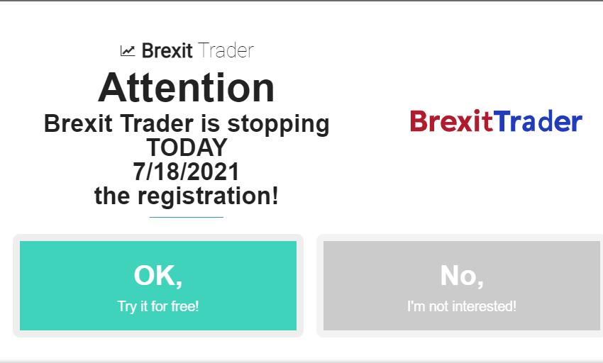 Fonctionnalités Brexit Trader