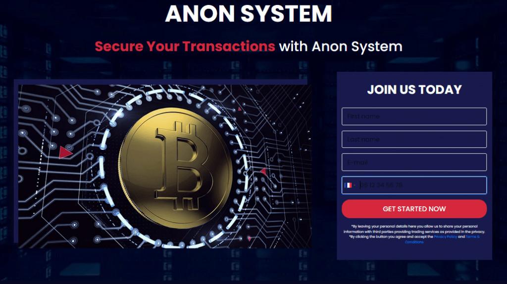 1. Ouvrir un Compte Anon System