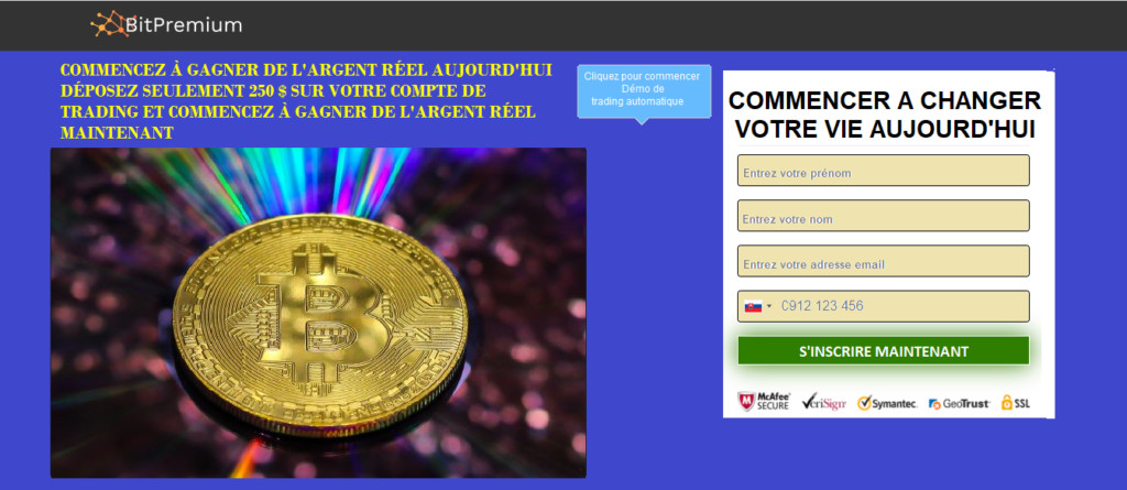 1. Ouvrir un Compte sur BitPremium