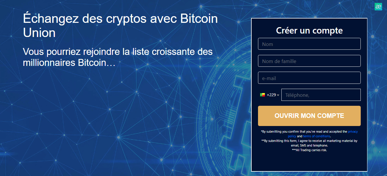 Bitcoin Union inscription